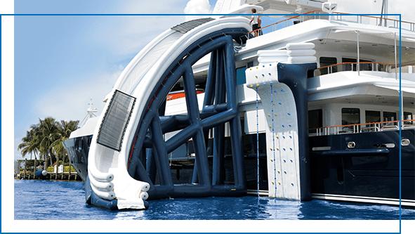 FunAir curved yacht slide