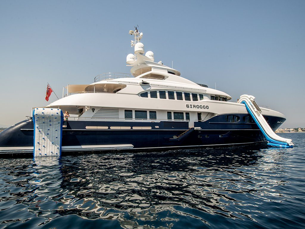 Motor Yacht Scirocco with FunAir Climbing Wall and Yacht Slide