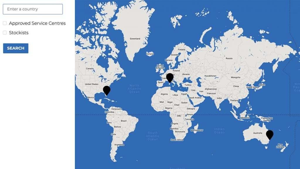 FunAir Global Partners map