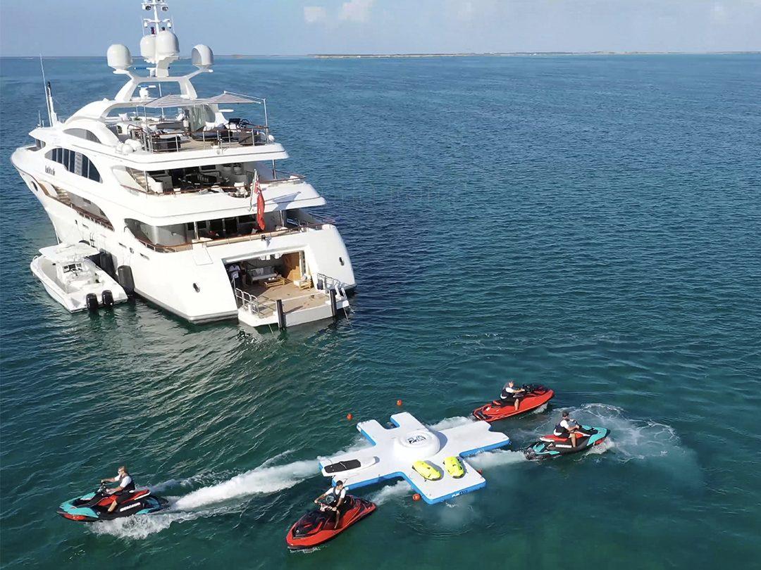 FunAir Toy Island Diving Platform and Motor Yacht Latitude