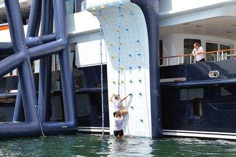 FunAir Climbing Wall on Motor Yacht Helios