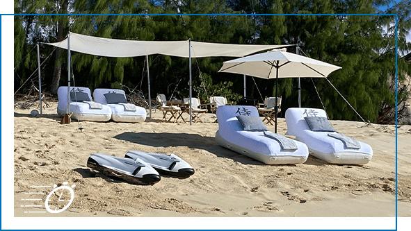 FunAir QuickShip Superyacht Beach Loungers