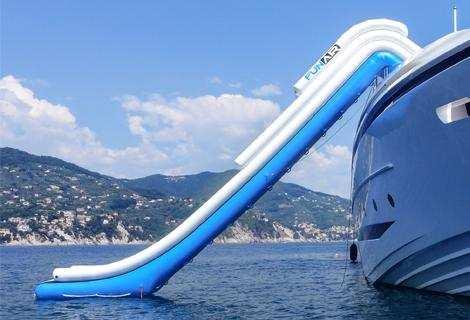 FunAir slide on MY Balista Grande