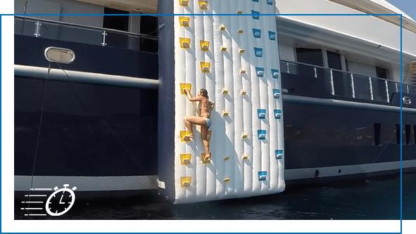 FunAir Water Entry Climbing wall image