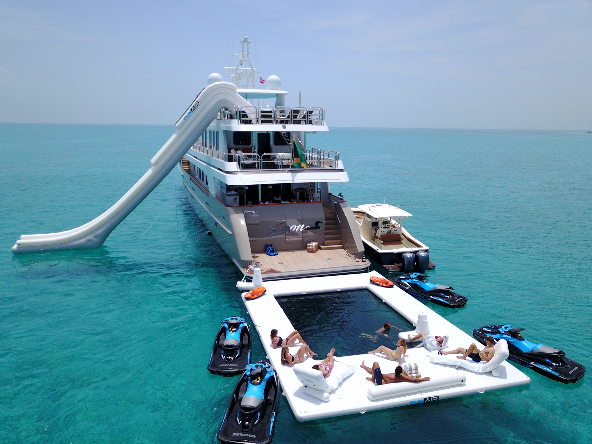 FunAir MY Loon Beach Club Sea Pool and Yacht Slide