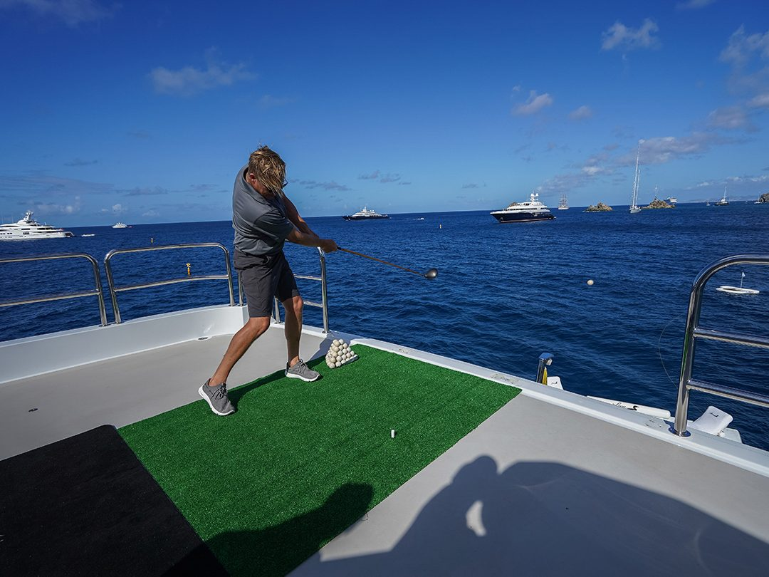 Playing Superyacht Golf with eco golf balls
