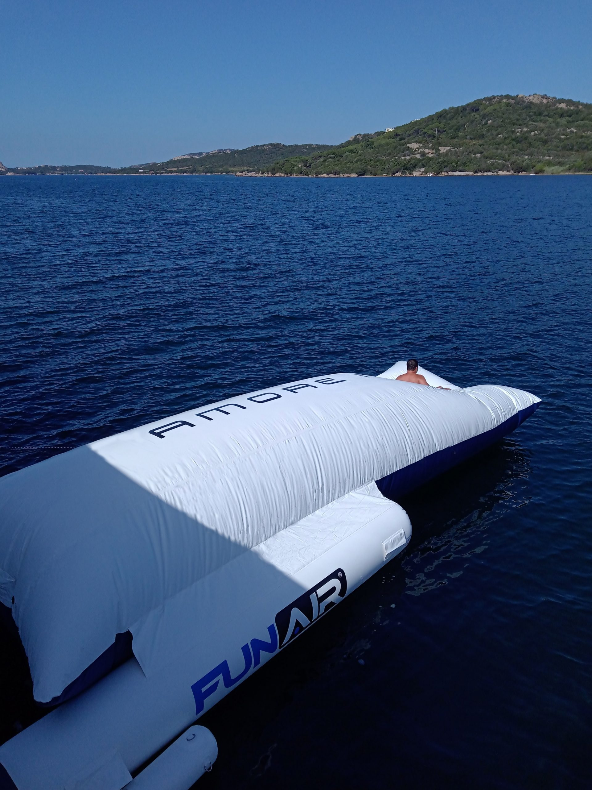 Superyacht BigAir Blob with stabilising outriggers