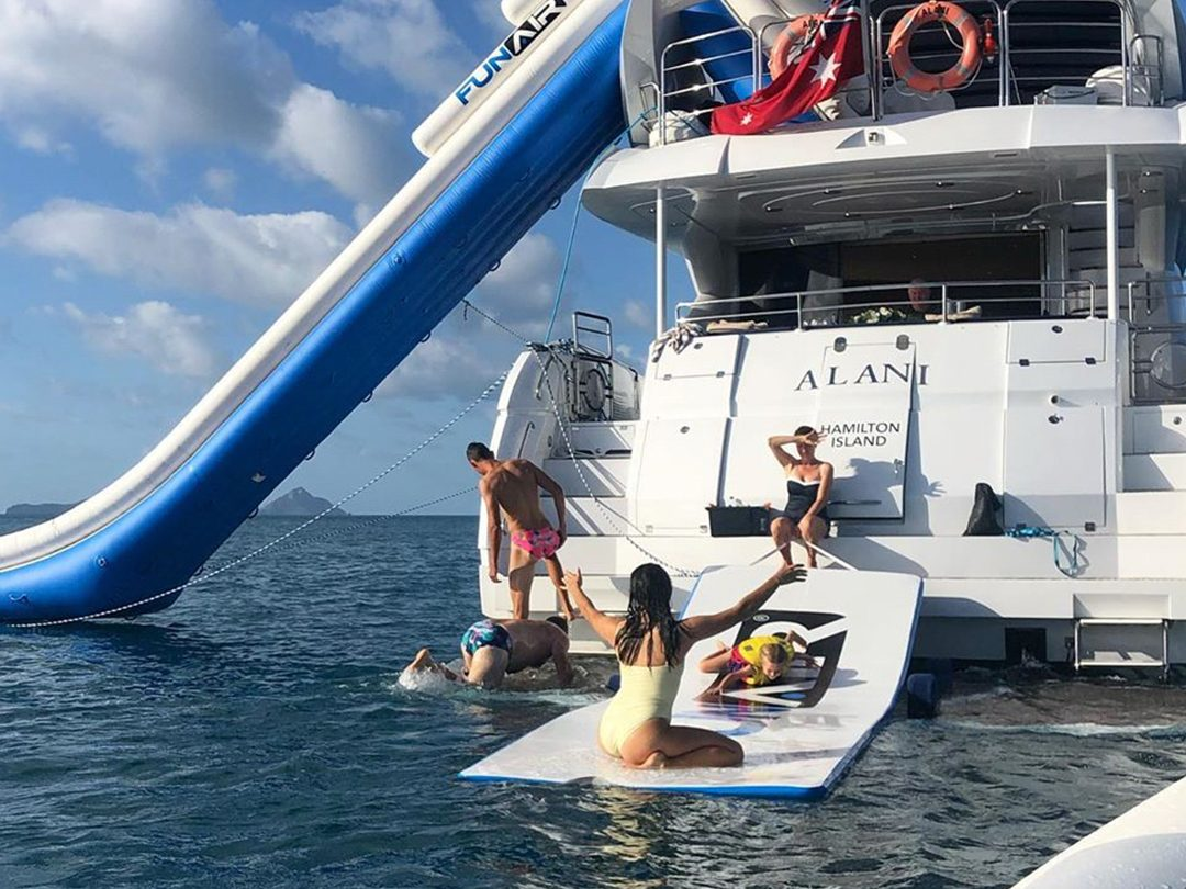 Inflatable Yacht Slide and Water Mat