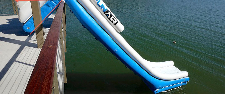 Boat Dock Slide at lake resort