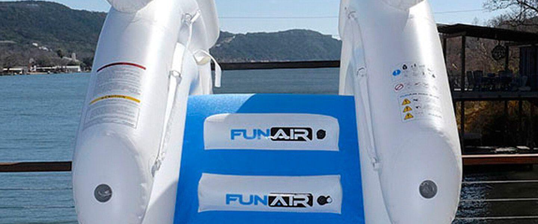 Inflatable Boat Dock Slide