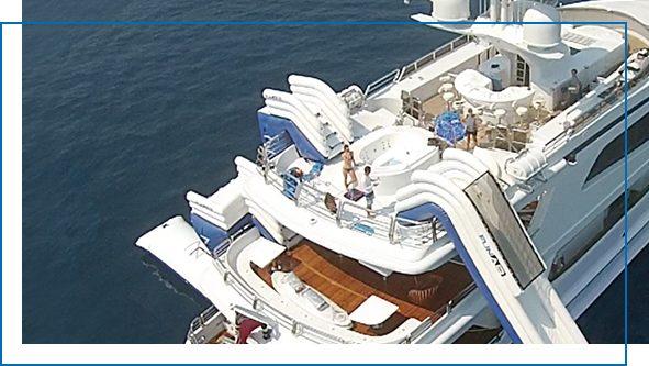 Inflatable superyacht jump platform Leap of Faith