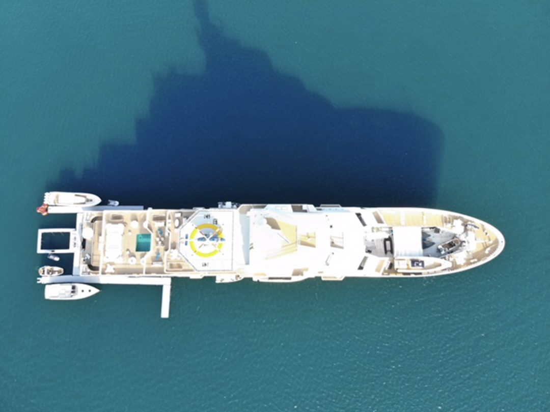 Yacht Inflatable Super Dock Aerial View