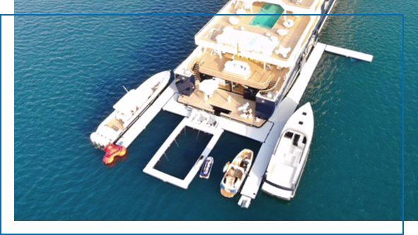 Multiple Tender Inflatable Dock