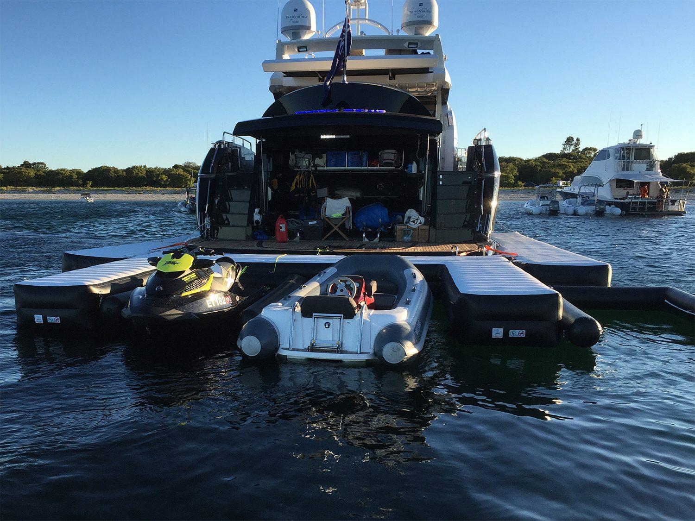 Custom Jet Ski Dock on Superyacht Yacht Park Lane