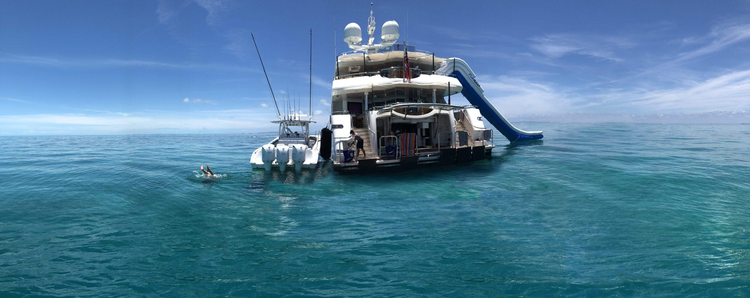 Hanger Yacht Slide on Motor Yacht Hospitality