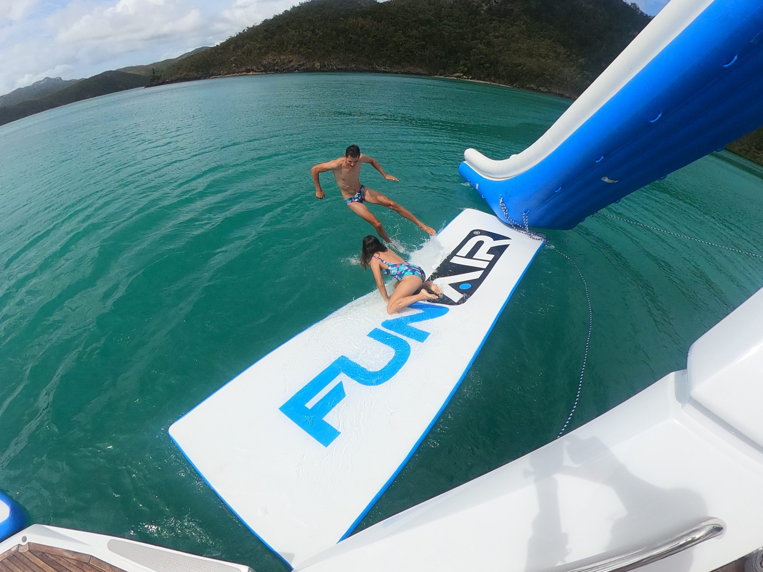 Water Mat and Yacht Slide on Superyacht Alani
