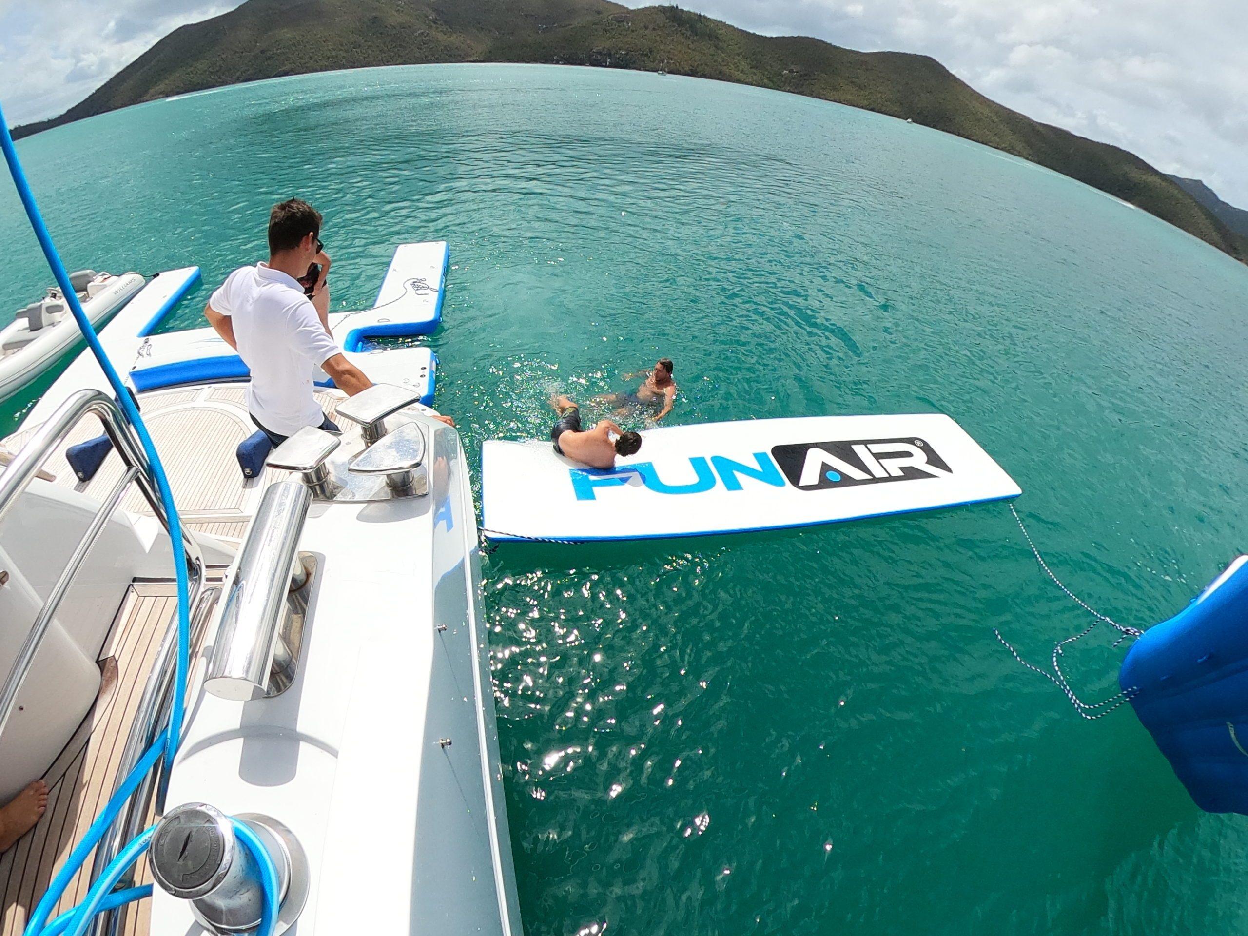 Water Mat on Superyacht Alani