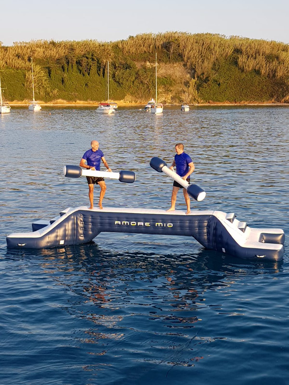 Two men on Yacht Joust