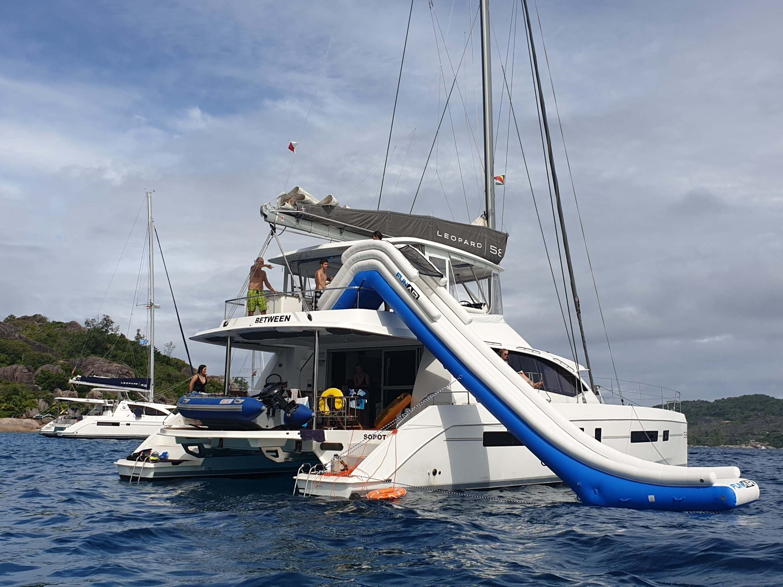 Yacht with Yacht Slide
