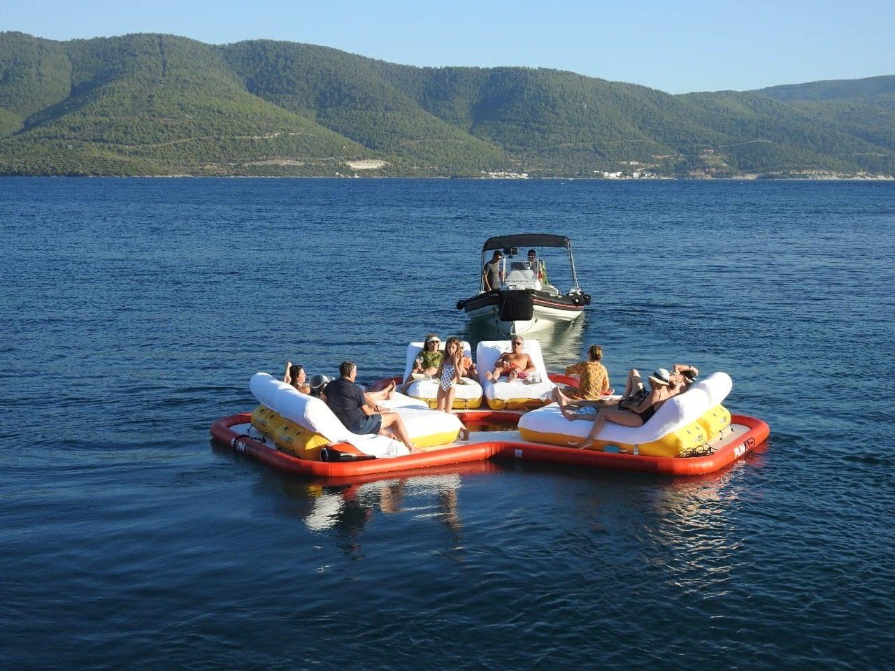 Custom Floating Island on Sailing Yacht Take It Easier