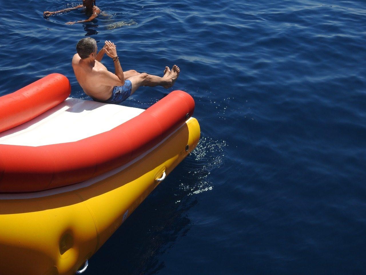 Custom Yacht Slide on Sailing Yacht Take It Easier