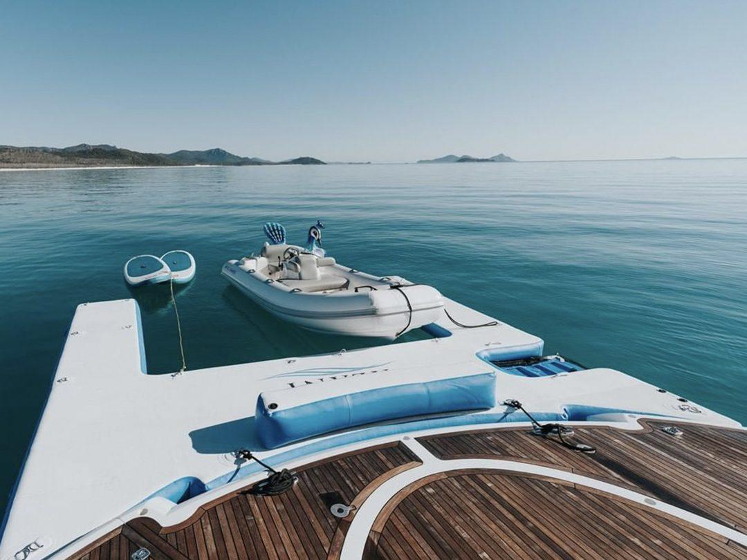 Custom Jet Ski Dock on superyacht Alani