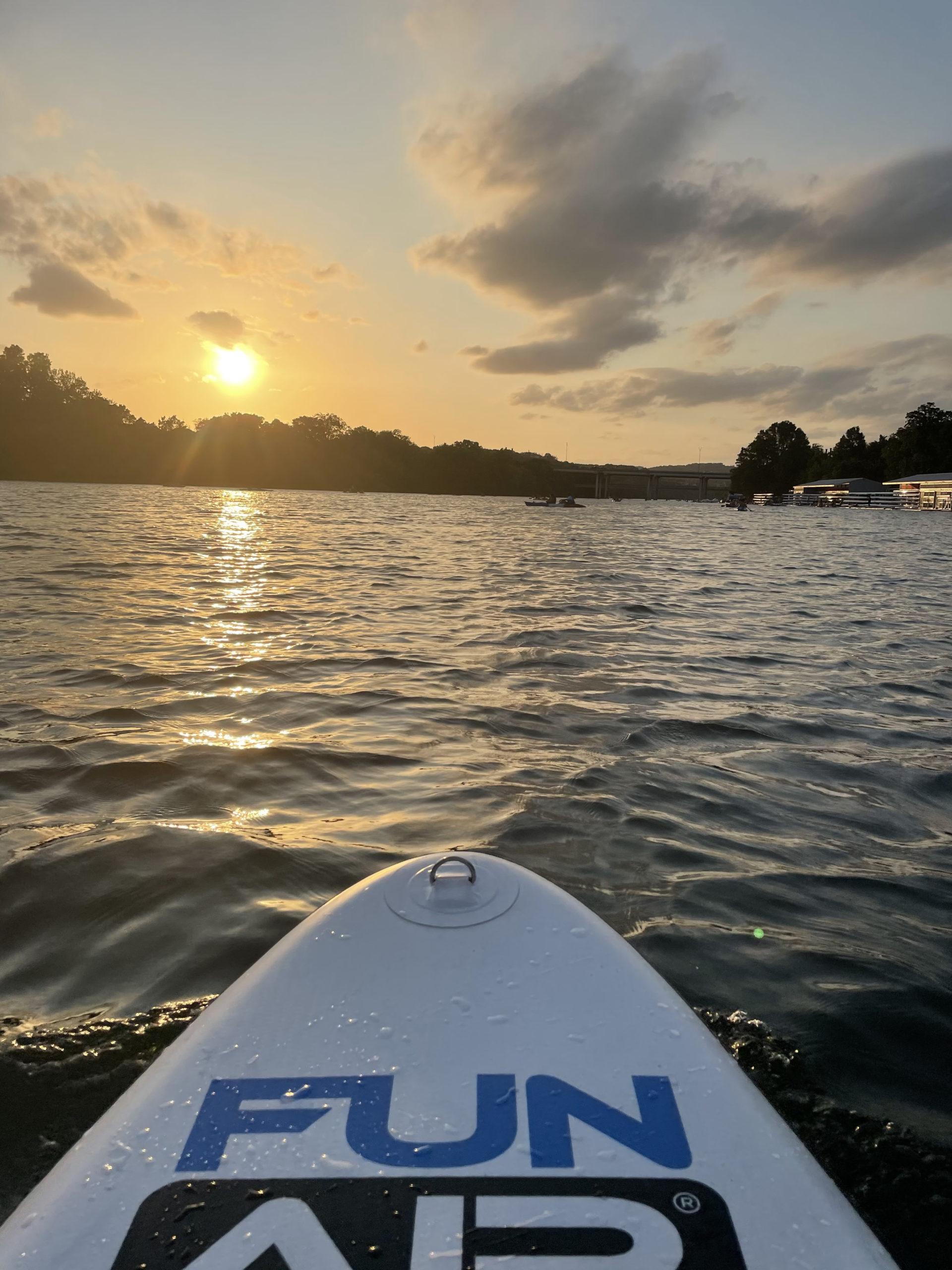 FunAir Stand Up Paddleboard on Lake Austin