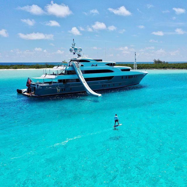 Custom Yacht Slide on Superyacht Loon