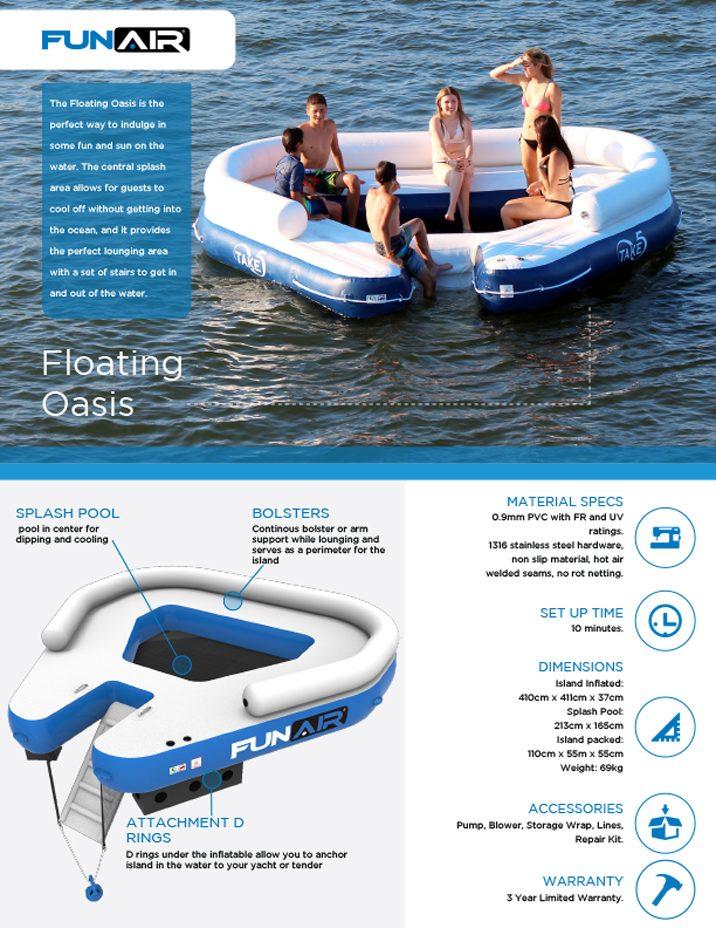 FunAir Floating Oasis Spec Sheet