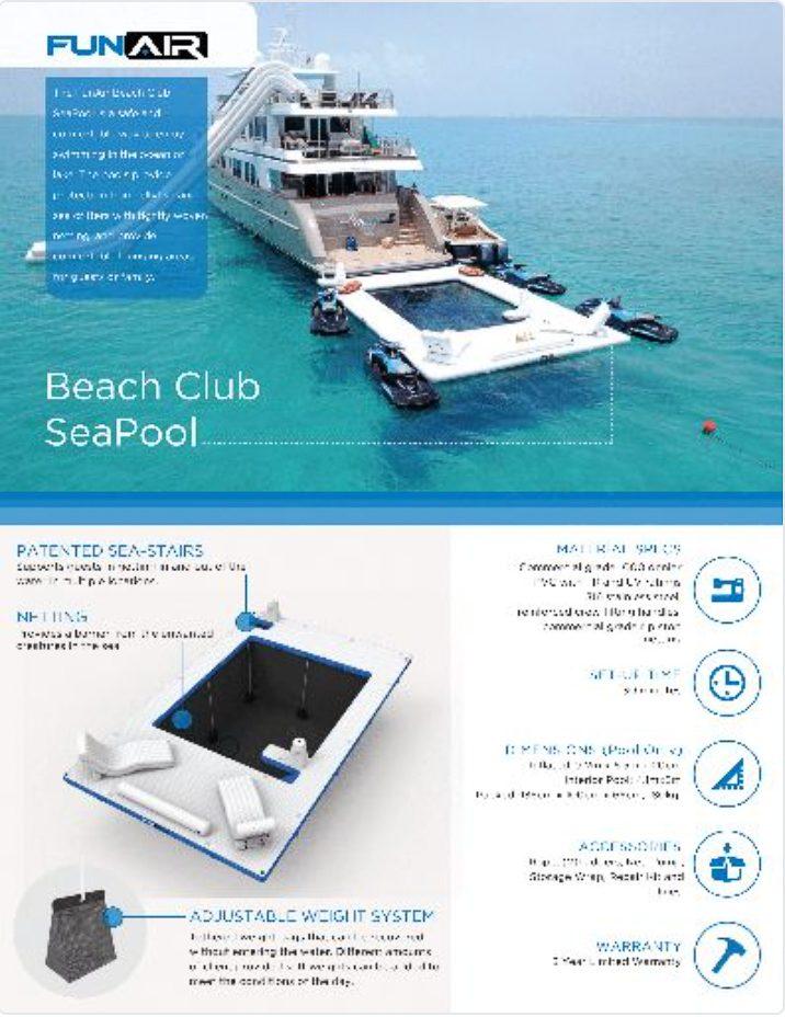 FunAir Beach Club SeaPool Spec Sheet