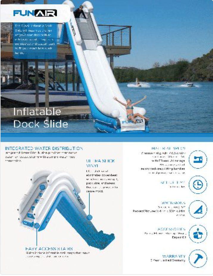 FunAir Dock Slide Spec Sheet