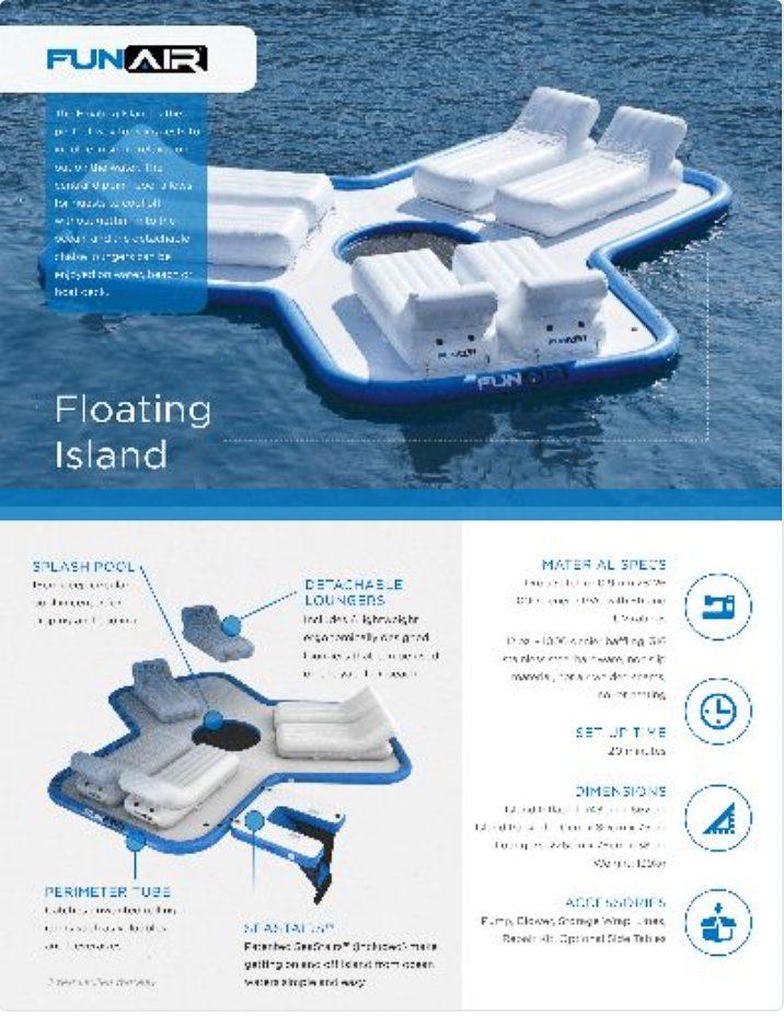 FunAir Floating Island Spec Sheet