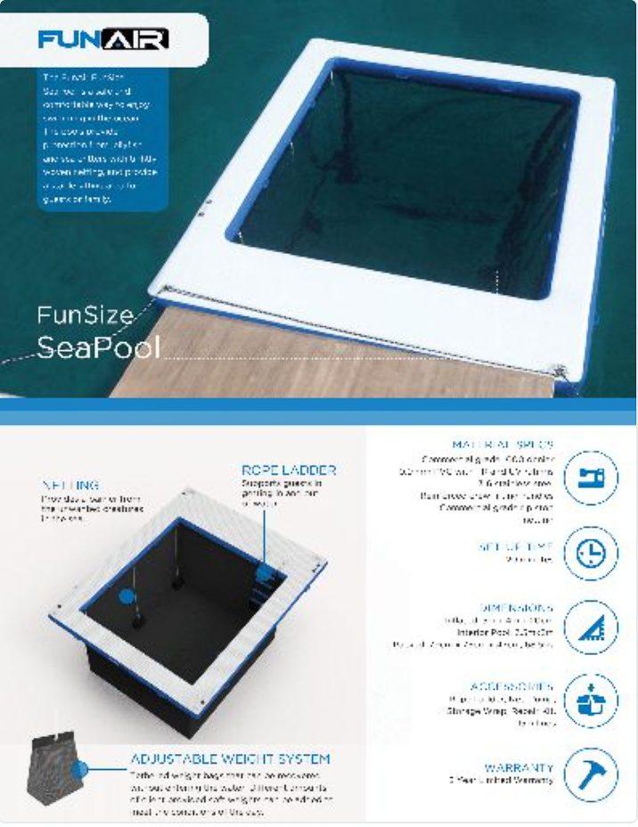 FunAir FunSize Sea Pool Spec Sheet