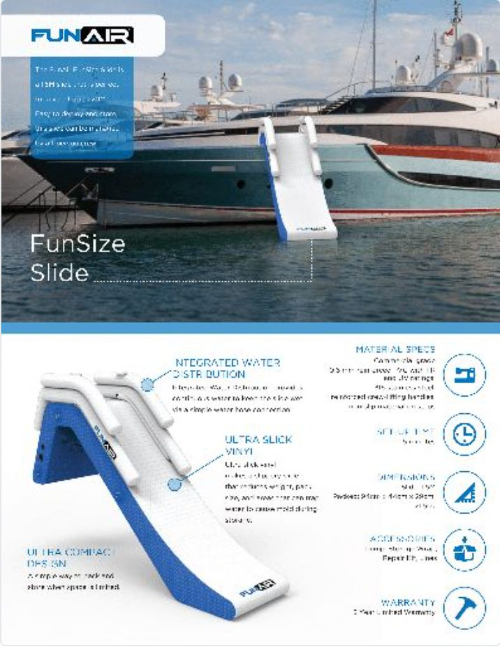 FunAir FunSize Slide Spec Sheet