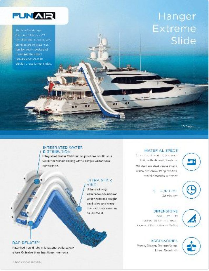 FunAir Hanger Extreme Slide Spec Sheet