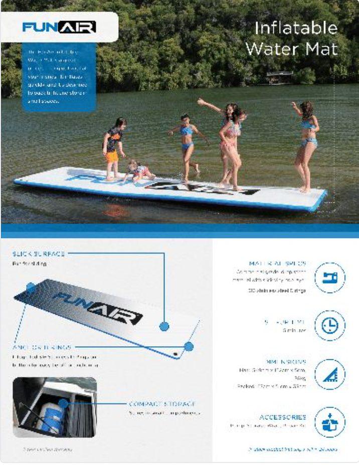 FunAir Water Mat Spec Sheet