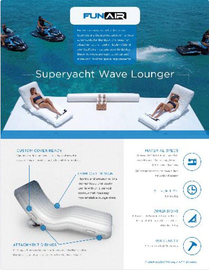 FunAir Wave Lounger Spec Sheet