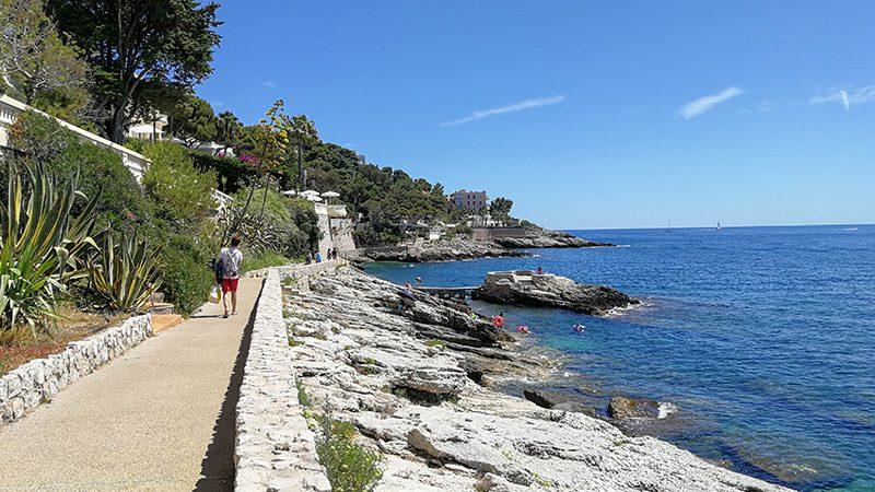 The scenic sea coast of Cap d