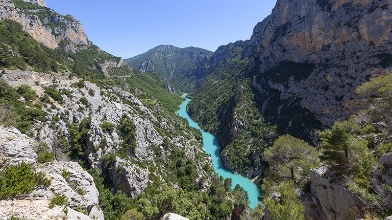 Scenic view of the Gorges du Verdon in Provence in the South of France