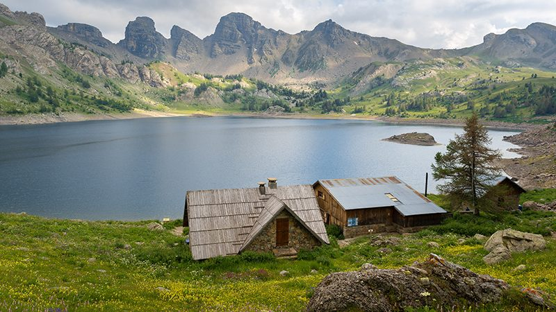 Allos Lake in the Mercantour National Park in the South of France