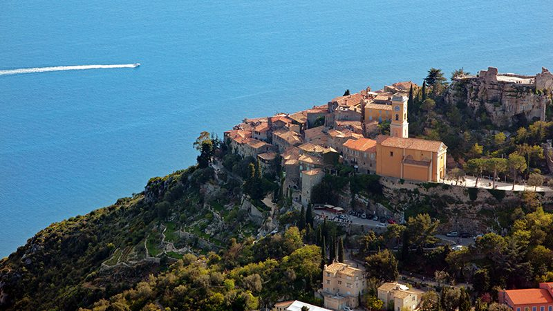Overlooking the coastal village of Eze in the South of France