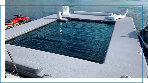 Beach Club Sea Pool and Superyacht Wave Loungers