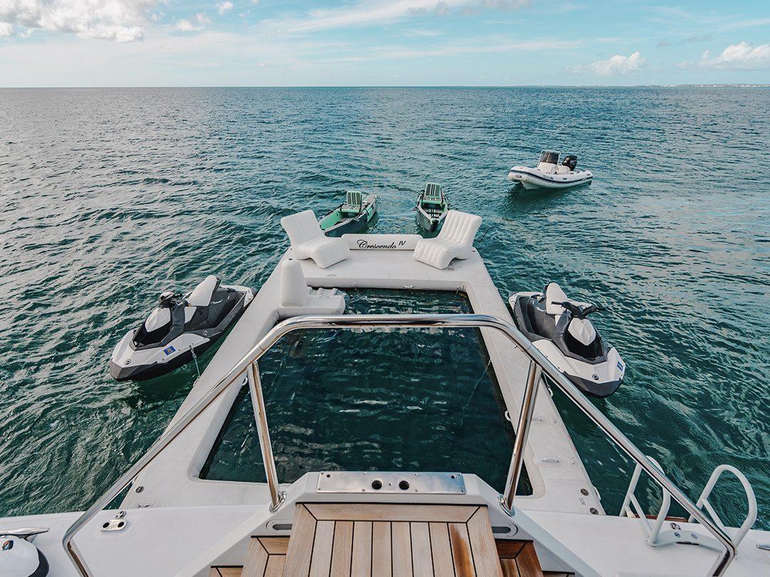 FunSize Beach Club Sea Pool on superyacht Crescendo IV