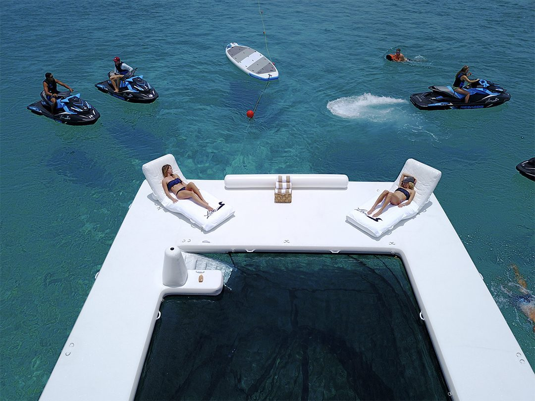 Beach Club Sea Pool on MY Loon