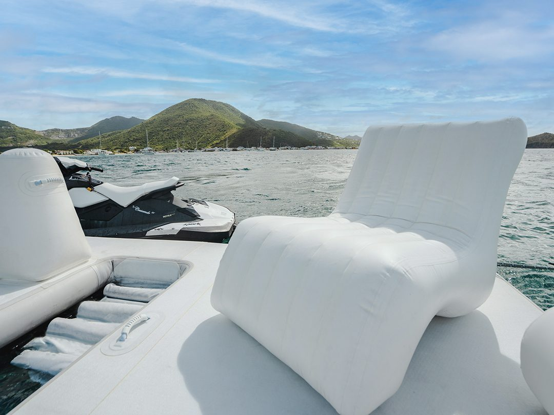 FunSize Beach Club Sea Pool and Superyacht Wave Chairs on Motor Yacht Crescendo IV