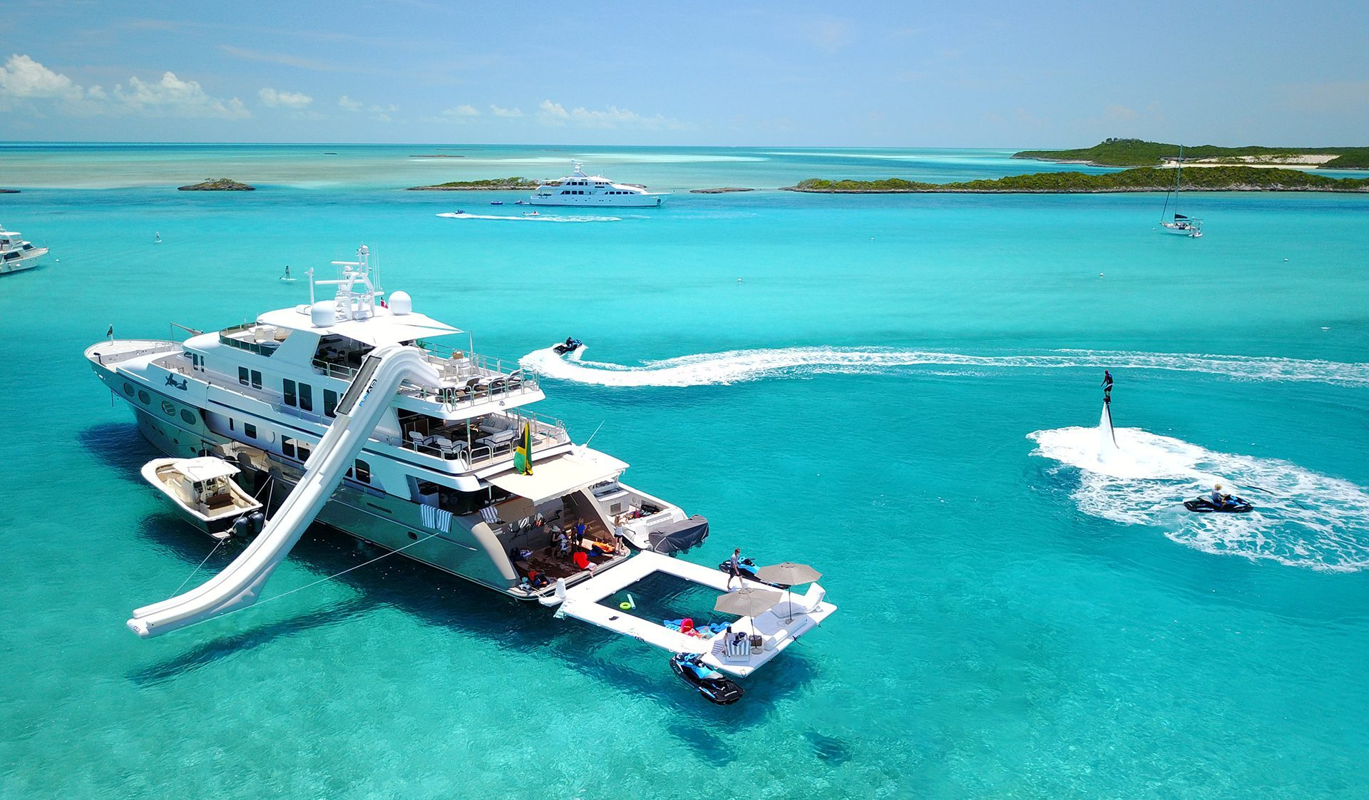 Beach Club Sea Pool, Yacht Slide and Superyacht Wave Chairs on MY Loon