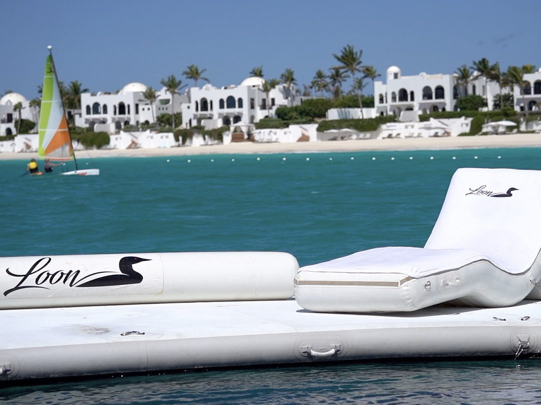 Beach Club Sea Pool and Superyacht Wave Chairs on MY Loon