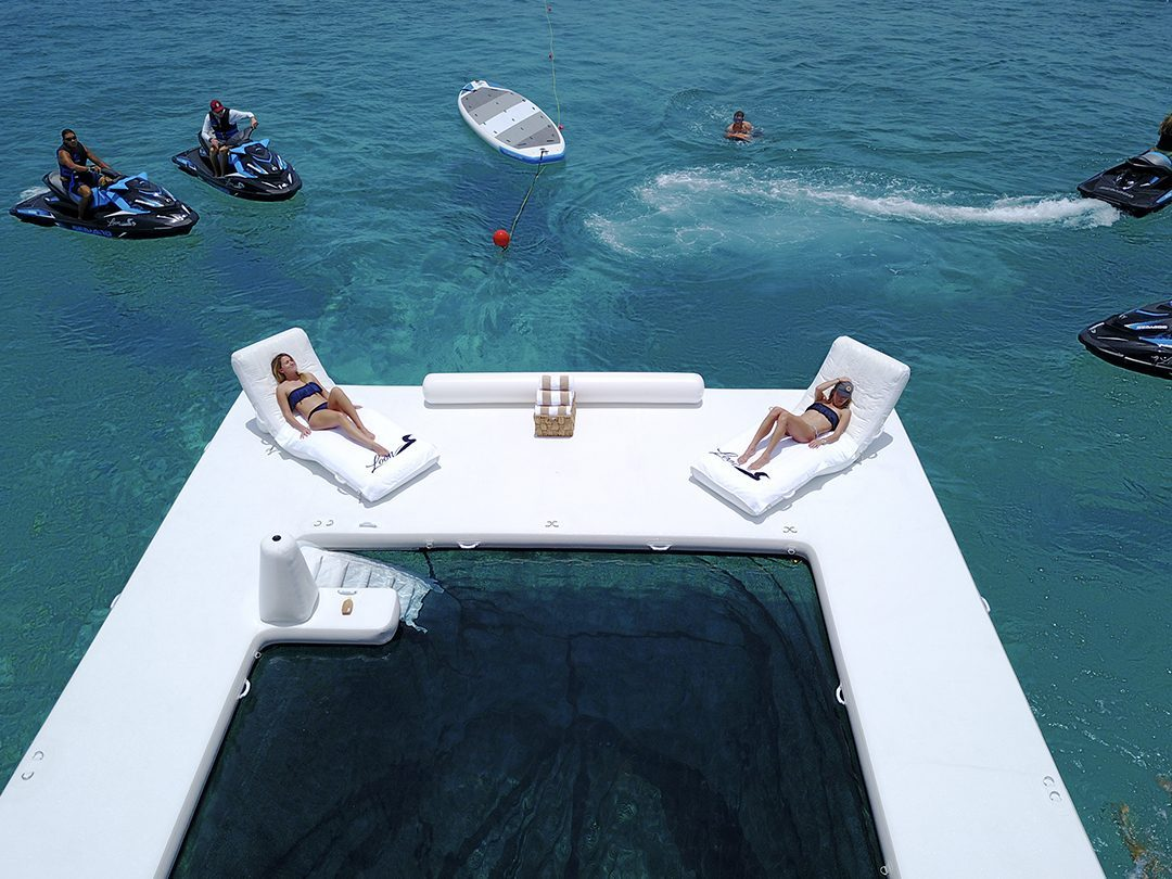 Beach Club Sea Pool and Superyacht Wave Loungers on MY Loon