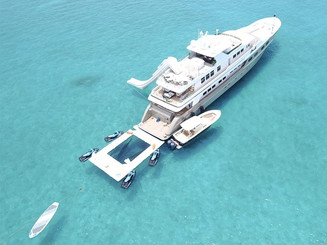 Beach Club Sea Pool and Yacht Slide on MY Loon