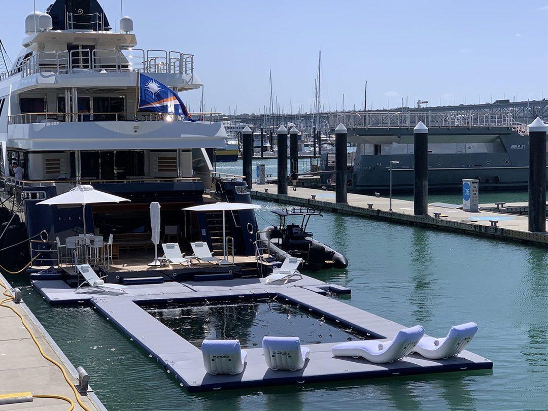 Custom Sea Pool and Superyacht Wave Loungers on superyacht